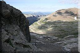 Vista superado el paso rocoso