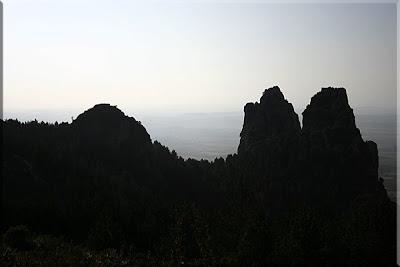 Bella vista durante el descenso del Avellano