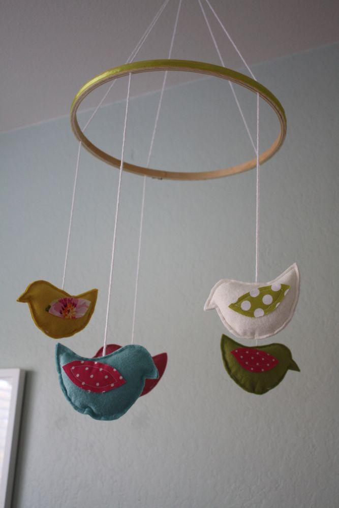 birdie mobile tutorial. Black Bedroom Furniture Sets. Home Design Ideas