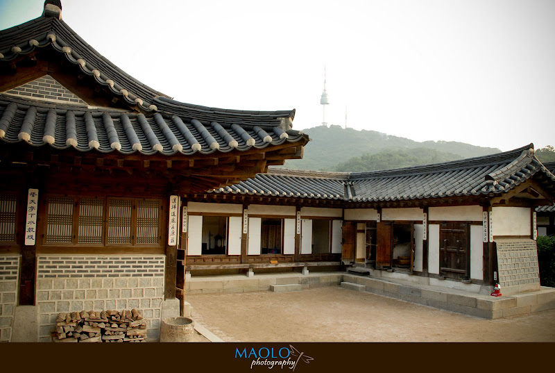 Maolo in korea the village of traditional houses seoul for Houses in south korea