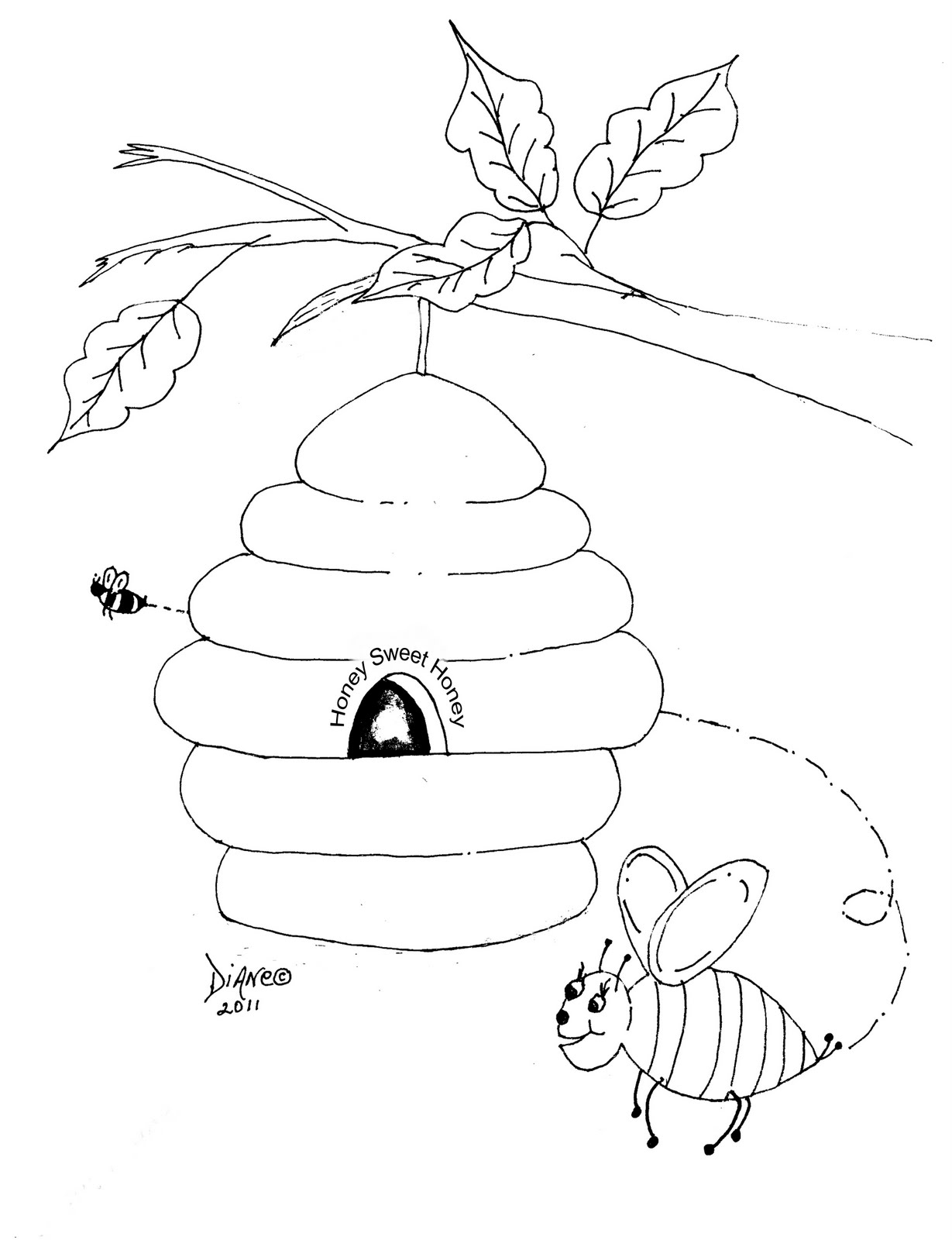 Beehives Coloring Pages - Viewing Gallery