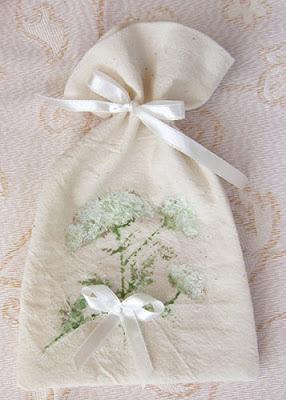woreczek na zioła, ręcznie malowany