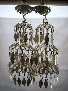 Thai chandelier umbrella earrings