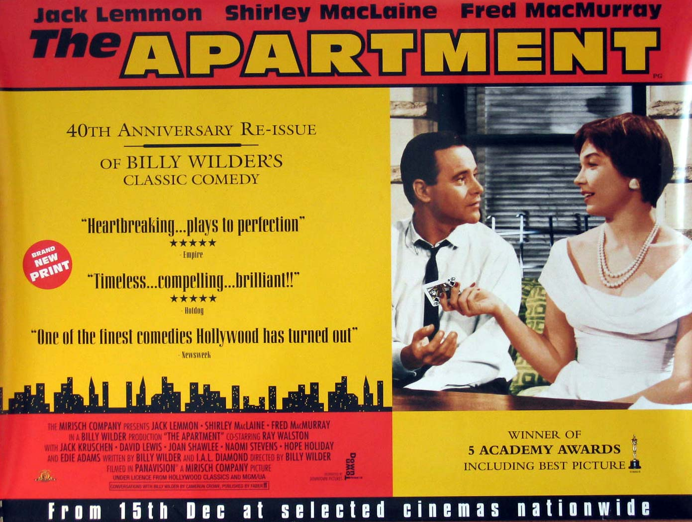 My sketchbook classic film friday the apartment for The apartment cast