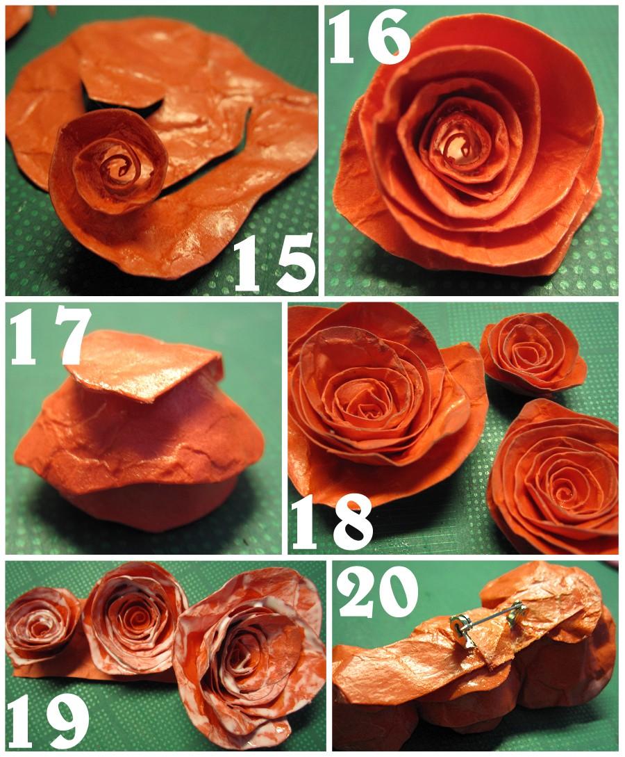 Ceramic Paper Roses The Scrap Shoppe