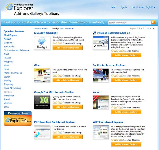 micro center tech support how to install add ons to internet explorer. Black Bedroom Furniture Sets. Home Design Ideas