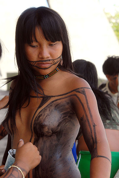 South American Tribal Girls The kamayur� are an indigenous