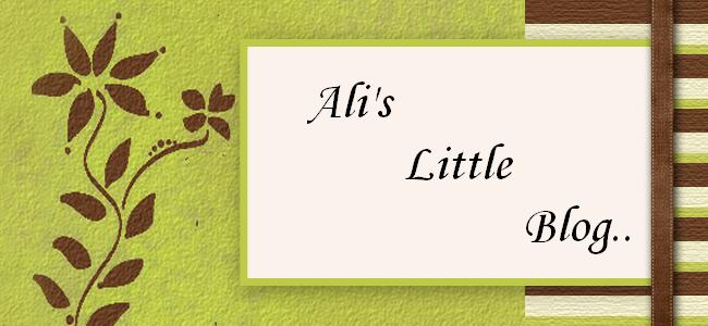 Ali's Little Blog..