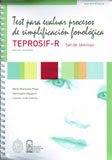 TEST PARA EVALUAR PROCESOS DE SIMPLIFICACION FONOLÓGICA edición revisada TEPROSIF-R y set de lámina