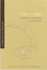 TODO Y NADA (Sonetos en homenaje a José Hierro)