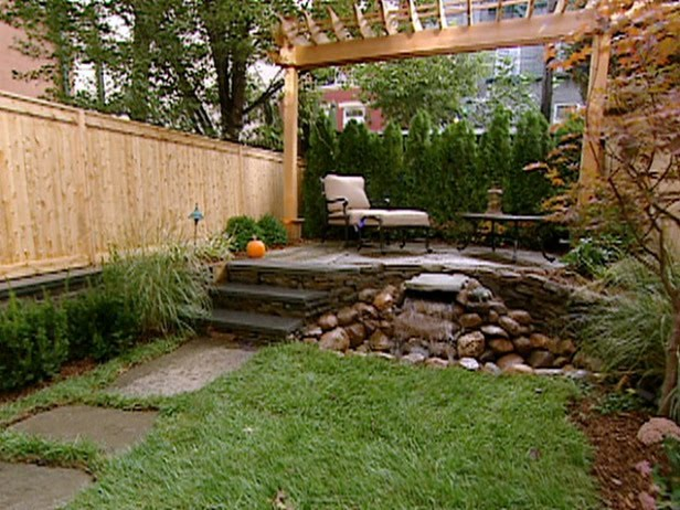 Serenity in design small backyard solutions for Small yard landscaping designs