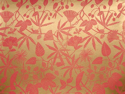 hand printed wallpaper. Marthe Armitage Hand Printed