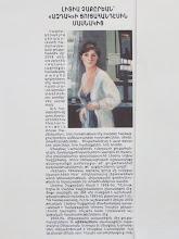 Aztag Newspaper, LIDYA TCHAKERIAN AT AZTAG'S EXHIBITION
