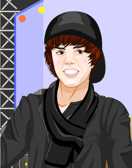 justin bieber cartoon style