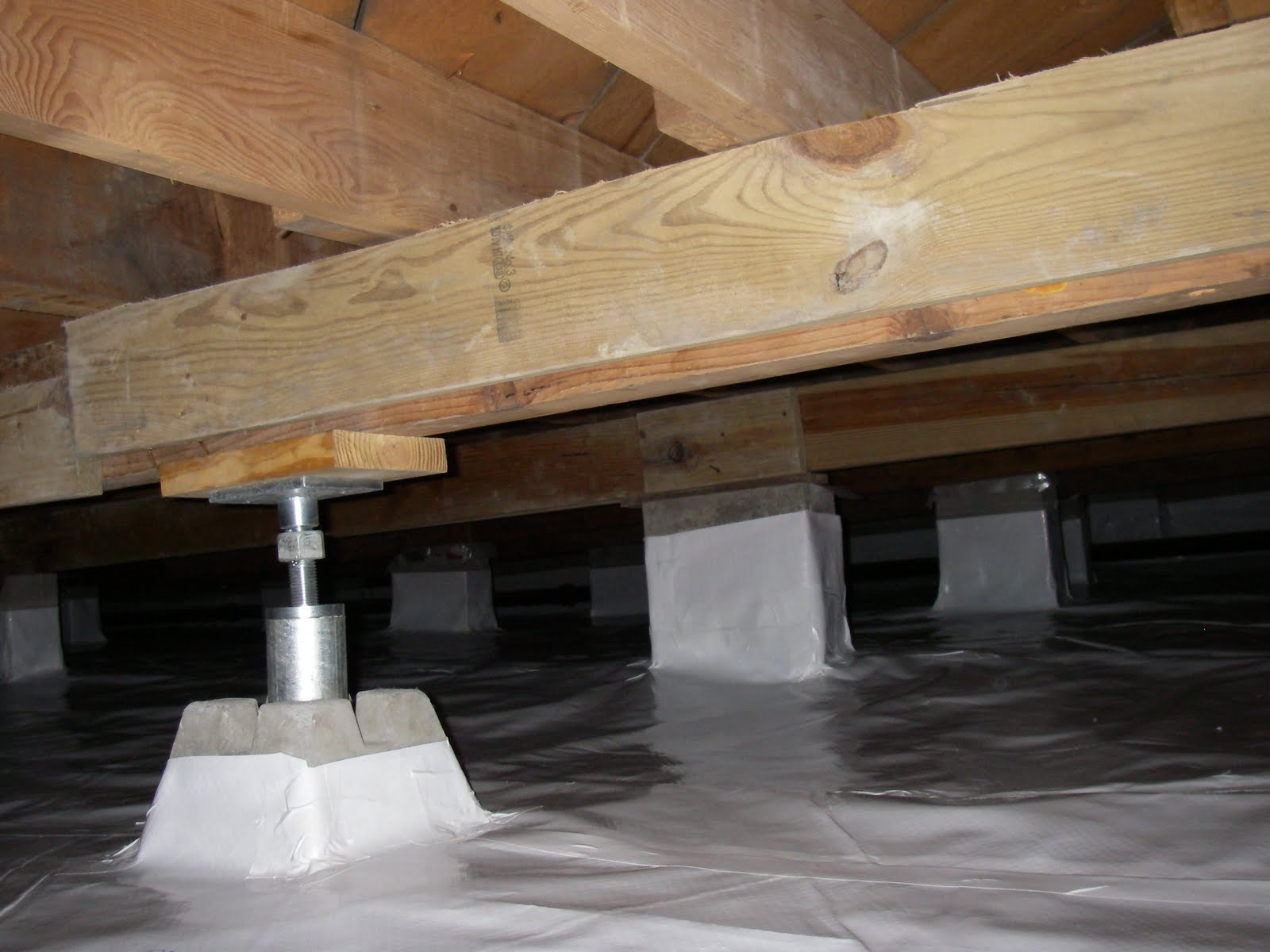 Lowcountry Basement Systems Wet Crawl Space And Sagging