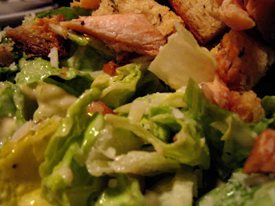 salmon ceasar salad