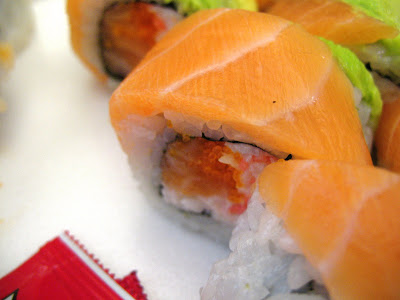 Rolls n Sushi, Boston Roll (salmon and crab)