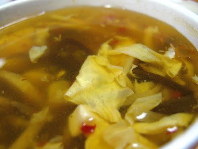 Hot and Sour Soup at Julie's Garden