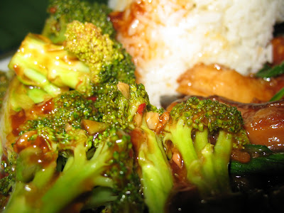 broccoli with tangy garlic sauce from uptown china