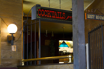 Cocktails, rest room
