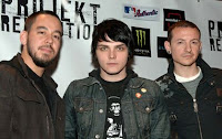 Mike, Gerard e Chester na conferncia de Imprensa do PR, 2007.