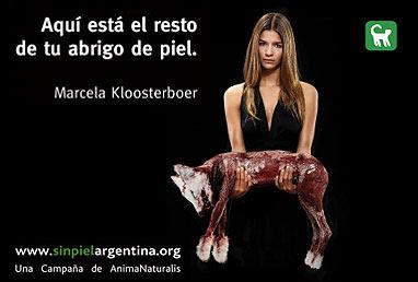 Campaña publicitaria contra el uso de pieles de animales