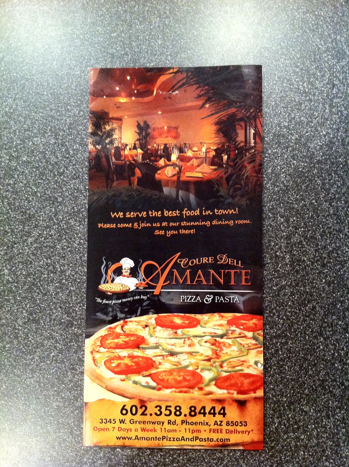 Jono and kim 39 s nomnoms food review amante 39 s pizza and pasta for Amante italian cuisine