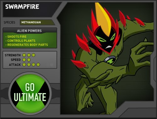 Ben 10 Ultimate Aliens:Ultimate Swampfire Can Fire Bombs