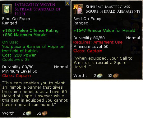 New LOTRO Tier 6 Armament Recipe
