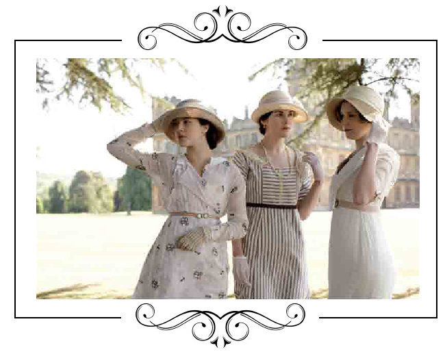 Mary, Edith and Sybil Crawley