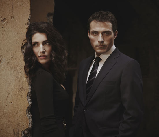 (shown on left: Rufus with co-star Caterina Murino) From Leftbank Pictures: