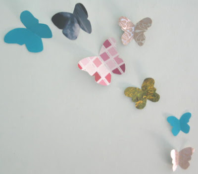 junk mail butterflies, upcycle junk mail, junk mail crafts