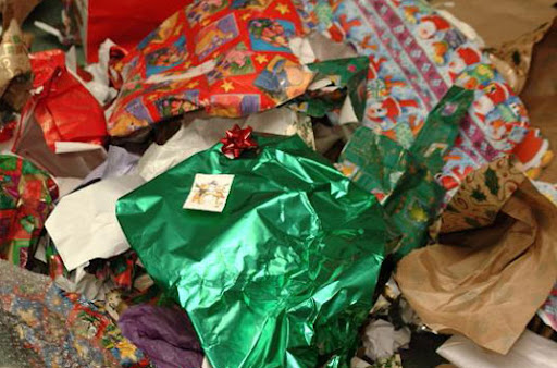 recycle wrapping paper, how to recycle wrapping paper, reuse wrapping paper, recycle gift wrap