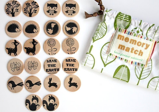memory game, wooden memory game, eco-friendly memory game
