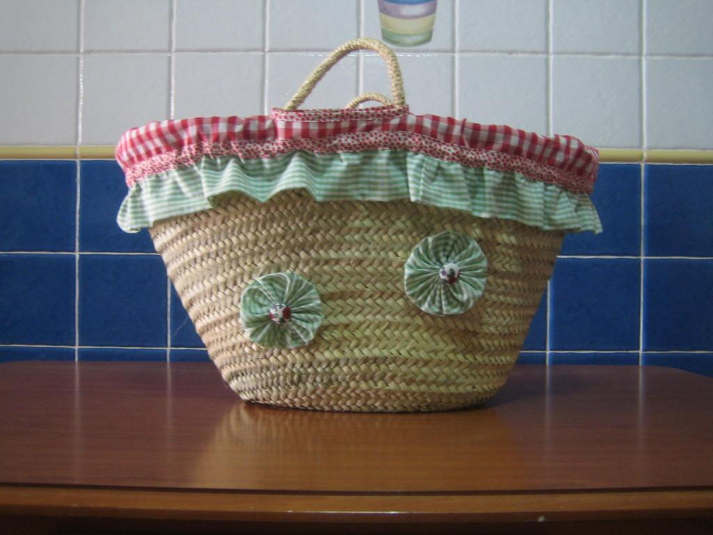 Mamapato labores cesta para la playa - Cestas para la playa ...