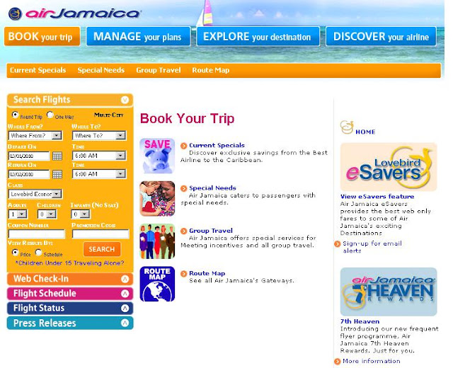 Www.AirJamaica.com - Air Jamaica Reservations & Tickets - Book Online