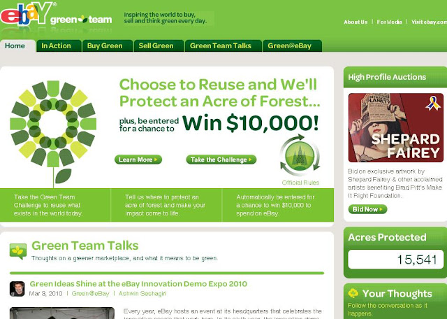 How to win eBay Green Team Challenge Sweepstakes from Ebaygreenteam.com
