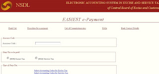 How to Make e-Payment of Service Tax at cbec.nsdl.com?