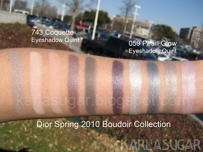 Dior, Lace Collection, Boudoir Collection, swatches, Coquette, Pearl Glow
