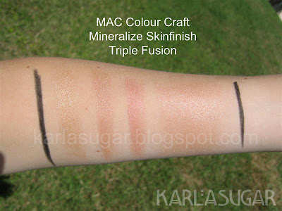 MAC, Colour Craft, Color Craft, Mineralize, Skinfinish, swatches, Triple Fusion