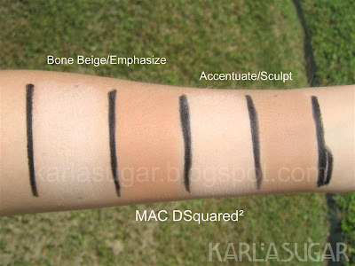 MAC, DSquared, DSquared2, swatches, Bone Beige, Emphasize, Accentuate, Sculpt, Sculpt and Shape
