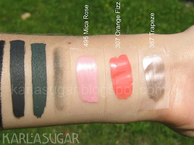 Chanel, holiday, 2009, Collection Cage Doree de Chanel, Golden Cage, swatches, La Ligne de Chanel, Celadon-Lame, Mica Rose, Orange Fizz, Trapeze
