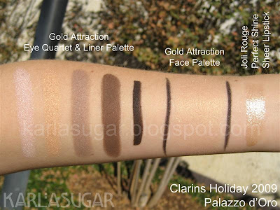 Clarins, Palazzo d'Oro, holiday, swatches, Gold Attraction