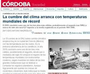 LA CUMBRE DEL CLIMA ARRANCA CON TEMPERATURAS MUNIDALES DE RCORD