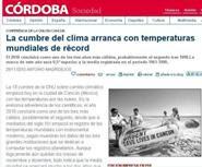 LA CUMBRE DEL CLIMA ARRANCA CON TEMPERATURAS MUNIDALES DE RÉCORD