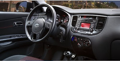 2010 Kia Rio SX interior - Subcompact Culture