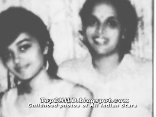 aishwarya rai  with her Mother during her college days