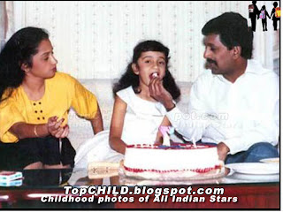 Thrisha krishnan celebrating her birthday