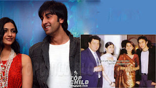 Ranbir kapoor  wih his parents and sister