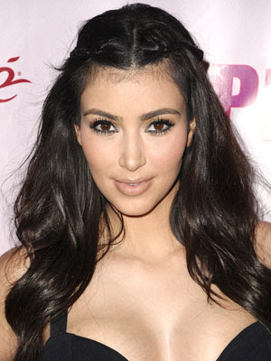 kim kardashian makeup and hair. kim kardashian hair updos.